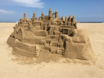 This sandcastle was over 5 foot high!